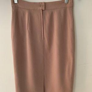 Max Mara Pink Pencil Skirt Sz 8